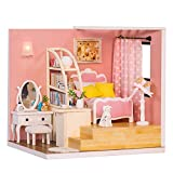 JJ. Accessory Casa delle Bambole di Natale Assemblaggio in Legno Fai-da-Te Casa delle Bambole Casa in Miniatura Giocattolo Regalo di Natale per Bambini(M-012)