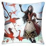 Alice_Madness_Returns - Funda de almohada cuadrada para sofá...
