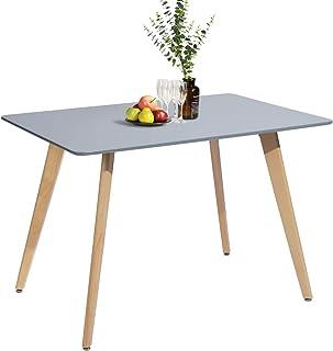 MEUBLE COSY Table Salle à Manger Rectangulaire Scandinave Design Bois pour 4 a 6 Personnes Gris , Gris /110X70X74cm