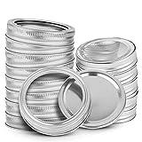 Yonphy 24 tapas para tarros de cristal con cintas, tapas para alimentos, tapa...