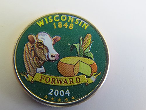 2004 Various Mint Marks Wisconsin State Colorized Quarter Choice Uncirculated