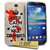 Accessory Master - Carcasa para Samsung Galaxy S4 i9500, diseño de texto en inglés 'Keep calm and kill zombies'