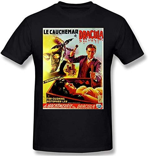 Dracula Men's Fashion Round Neck Short Sleeve T-ShirtBlack
