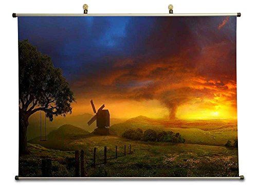 Sunset - Canvas Wall Scroll Poster (40x60 CM)