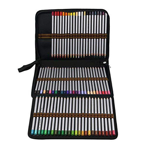 Color You 72 Colored Pencil Case Holder 3-Layer Artist Pencil Bag with Zipper for Watercolor Pens, Crayon, Color Gel Pen (Pencils NOT Included)