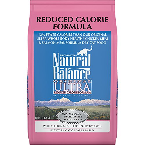 Natural Balance Original Ultra Reduced Calorie Formula Dry Cat Food, Chicken Meal, Chicken, Brown Rice, Potatoes, Oat Groats & Barley Formula, 6 Pounds
