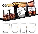 Set di Whisky da 1000ml M16 / M762 Cucile Bodykey Bottle Decanter per liquori Whisky 4 Puntelle Bicchieri di Whisky e Base in Legno M Evolutions
