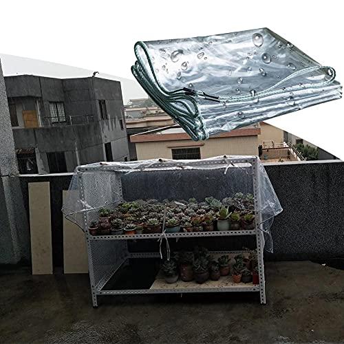 MAHFEI Lonas Impermeables Exterior, Cubierta Vegetal con Ojales Plegable Toldo De Jardín De PVC Anti-envejecimiento para Invernadero, Mobiliario De Terraza A Prueba De Lluvia