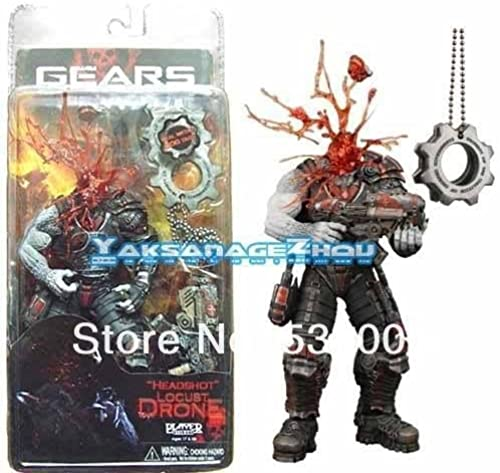 NECA GoW Gears of War Headshot Locust with a COG Tags Box Set Action Figure Figurine Toy Doll by Hot Toys