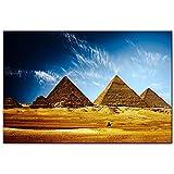 Pirámides egipcias Cuadros de pared Paisaje africano realista Arte de la pared Impresiones en lienzo Pirámides egipcias Pinturas para sala de estar Sin marco-40x50cm