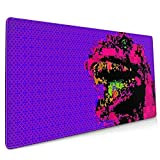 Godzilla Illustration Extended Gaming Mouse Mat, DIY Custom Professional Mouse Pad (35.5x15.8In),Desk Pad Keyboard Pad Mat, Water-Resistant, Non-Slip Base, For Work & Gaming, Office & Home