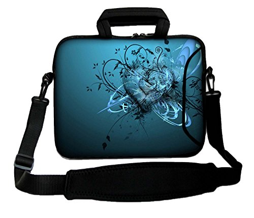 14' Inches Design Laptop Notebook Sleeve Soft Case Bag With Handle and Shoulder Strap for Apple MacBook Air, MacBook, MacBook Pro, MacBook Pro Retina, MacBook Aluminum, Unibody, iBook, PowerBook