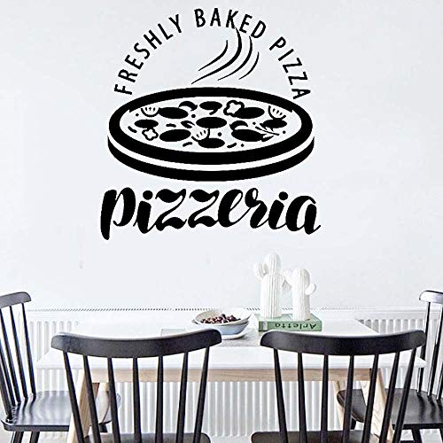 jtxqe Wall Art Stickers Quotes Bedroom Pizzeria Italian Food Pizza Restaurant Self Adhesive Wallpaper For Children Bedroom Funny Wall Mural For Man Cave Creative 60X57CM