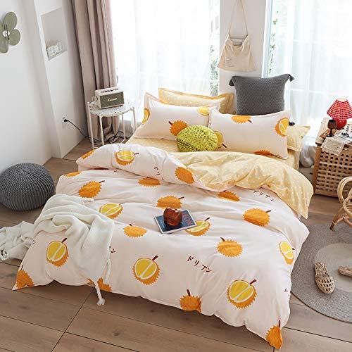 Funda Nórdica con Estampado De Frutas, Ropa De Cama Cómoda Y Suave para El Dormitorio De Las Niñas, Textiles para El Hogar Individuales Y Dobles De Gran Tamaño