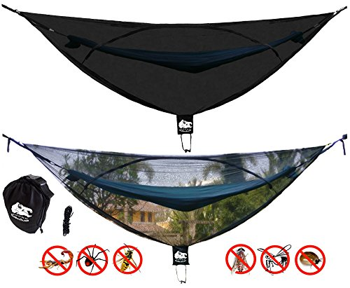 """Chill Gorilla OH Hell NO! 11' Bug NET Stops Mosquitoes, No See Ums & Repels Insects. Fits All Camping Hammocks. Compact, Lightweight. Size 132"""" x 51"""". Essential Backpacking Jungle Gear. Eno Accessory"""