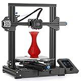 Impresora 3D oficial Creality Ender 3 V2 mejorada con placa base silenciosa, fuente de alimentación Meanwell, placa de vidrio de carborundo templado e impresión de currículum vítae 220x220x250 mm, impresora 3D de estructura integrada