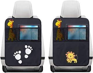 2Pcs Organisateur de Voiture Protégé Siege Voiture, Protection de Siège Auto Bébé/Enfant Kick Mats Protection de Dossier/A...