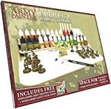 The Army Painter Model Paint Stand and Paint Brush Holder - Dropper Bottle Rack for Paint Storage with Brush Organizer - Project Paint Station for 30 Warpaints, 7 Paintbrushes and 1 Water Cup