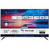 INFINITON INTV-55AF2300 – Televisor Smart TV 55' 4K UHD – Android 9.0 – Google Assistant – HBBTV – 4X HDMI – 3X USB - DVB-T2/C/S2 - Modo Hotel – Clase A+