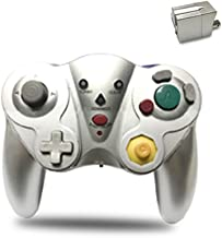 Wireless Gamecube Controller,Reiso 2.4G GC Controller Wireless with Receiver Adapter Compatible Nintendo Gamecube Wii (Silver)