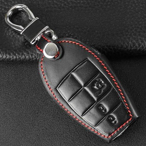 YUFFD Caso De La Llave del Coche Funda De Cuero para Llave De Coche, para Dodge Challenger Charger Magnum Journey Ram Jeep Commander Grand Cherokee Chrysler