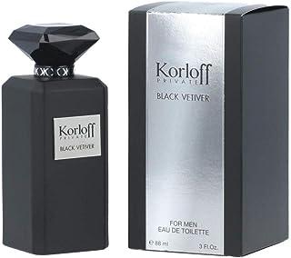 Korloff Private Black Vetiver Eau de Toilette for Men 88ml, 3392865441379