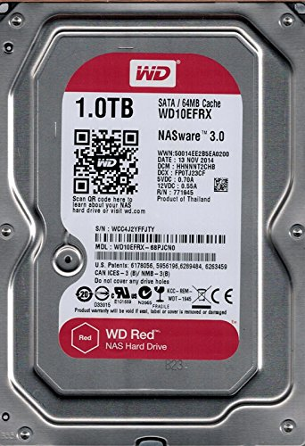 Western Digital Red 1TB SATA 6 GB/s - Disco Duro (Serial ATA III, 1000 GB, 8,89 cm (3.5