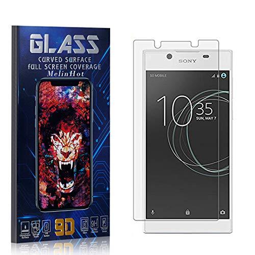 MelinHot Displayschutzfolie für Sony Xperia L1, Anti Fingerabdruck, Ultra Dünn Blasenfrei Schutzfolie aus Gehärtetem Glas für Sony Xperia L1, 4 Stück