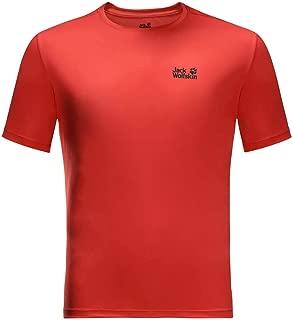 Jack Wolfskin Mens Tech T-Shirt - Lava Red - L