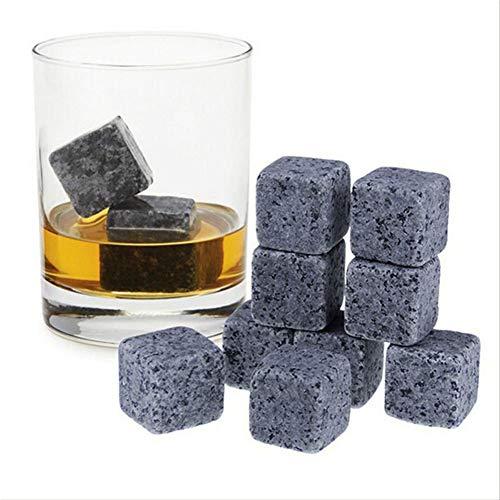 9 Stks Whisky Ice Stones, Drinks Cooler Cubes, 2 x 2 x 2cm, met Doekzak, voor Koeling Whiskey Wodka en Alle Drankjes