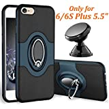 eSamcore iPhone 6S Plus Case, iPhone 6 Plus Case Ring Holder Kickstand Cases + Magnetic Phone Car Mount for Apple iPhone 6 6S Plus 5.5 Inch [Navy Blue]
