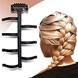Sanas French Weave 1 Pcs Hair Styling Braider Hair Woven Tool DIY Hairstyles Hair Braider Magic Hair Twist Roller Bun Hair Styling Tool – Black Color