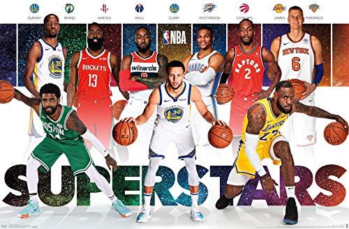 Trends International NBA League - Superstars 18 Wall Poster, 22.375' x 34', Premium Unframed Version