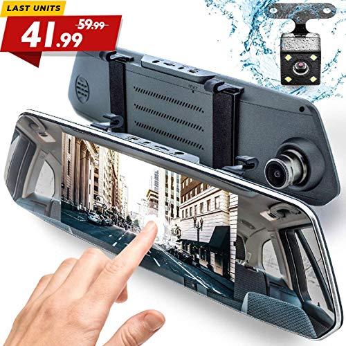 Rear View Mirror Dash Cam 1080P - 7