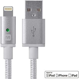 Monoprice Apple MFi Certified Lightning to USB Charge & Sync Cable - 3 Feet - White Compatible with iPhone X 8 8 Plus 7 7 Plus 6s 6 SE 5s, iPad, Pro, Air 2 - Luxe Series