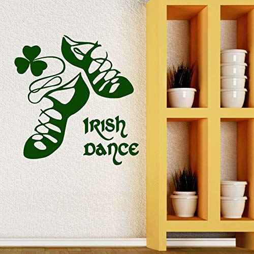 Irish Dance Irish Wall Vinyl Aufkleber Tanzschuhe Home Girl Dekoration Schlafzimmer Decal Irish House Dekoration Wandbild 42x43cm