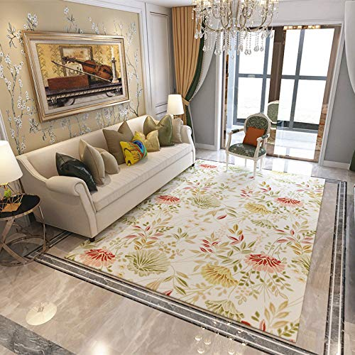 Nordic Minimalist Modern Flower Carpet Thick Non-Slip Printing Coffee Table Bedroom Sofa Full House Home Room Bedside Hotel Carpet