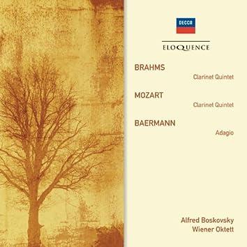 Brahms: Clarinet Quintet; Mozart: Clarinet Quintet; Baermann: Adagio
