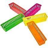 Uniquk Organizador de LáPiz en el Aula Cesta de LáPices o Cesta de LáPices de Colores, Colores Variados, Colores Aleatorios (Paquete de 10)