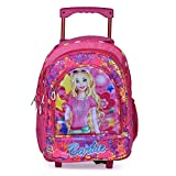 Stylbase Kids Boys' and Girl's Soft Fabric Children Wheels Trolley Backpack School Travel