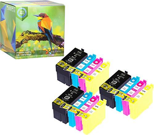 Cartuccia d'inchiostro Ink Hero compatibile in sostituzione dir Epson 27XL (Nero, Ciano, Magenta, Giallo, confezione da 12)