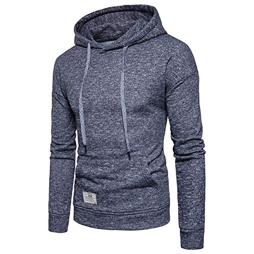 Casual Coat Trend Sports Fashion Hooded grijze trui Training Kleding Basketball Fitness Running Clothes (Color : Zwart, Size : L)