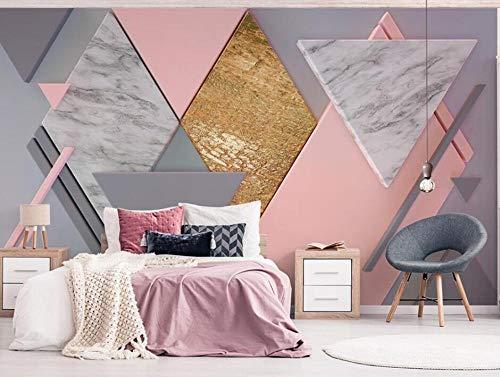 Benutzerdefinierte Fototapete Nude Pink Square 3d Polygonale Beleuchtung TV Hintergrund Tapeten wohnkultur 3D wallpaper @ 200 * 140