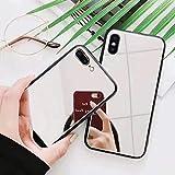 Cover Espejo de cristal templado con antigolpes para iPhone 7 Plus/iPhone 8 Plus