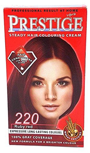 Vip's Prestige - Crème colorante pour cheveux, couleur rouge rubi N220.