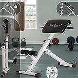Appareil de Musculation pour Dos - Pliable, Réglable en 4 Positions, Charge Max. 120kg,...