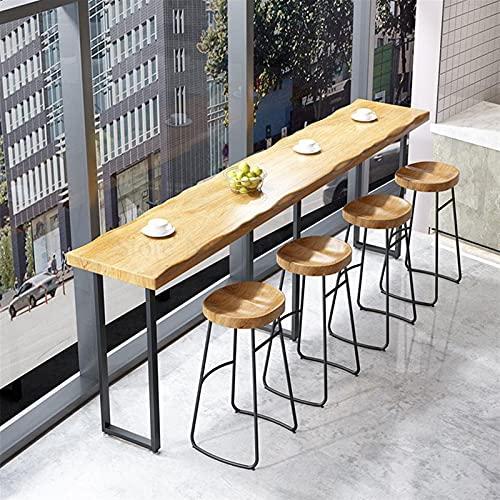 NICEDINING Bartafel, massief houten tafel en stoelcombinatie, binnenlandse lange bar tegen de muur, tafel en stoel creatieve koffie (kleur: A)