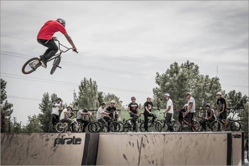 Stampa su Tela 60 x 40 cm: BMX Freestyle Bike Jump. di Alejandro Moreno de Carlos - Poster Pronti, Foto su Telaio, Foto su Vera Tela, Stampa su Tela