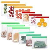 UOON Bolsas Reutilizables para Almacenamiento de Alimentos, 12Pcs Bolsas...