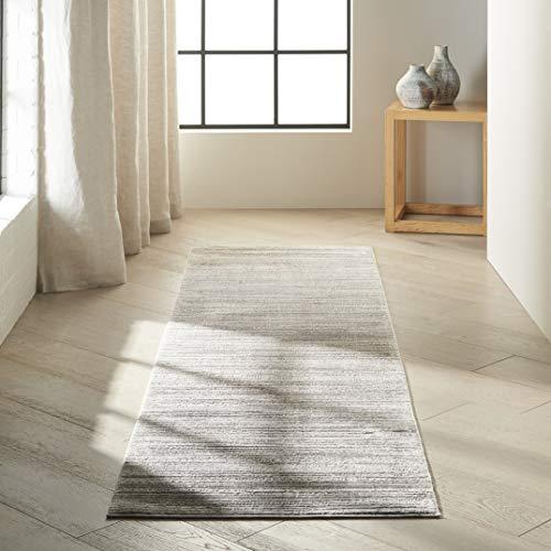 Calvin Klein Home Calvin Klein Orlando Silver Grey 8' Runner Hallway Rug 2'2'X7'6'